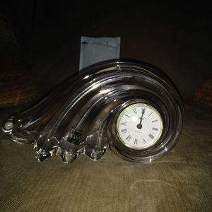 New Mikasa crystal clock